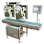 Static weighing and labeling machines