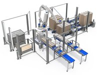 Product transport systems in the production facility